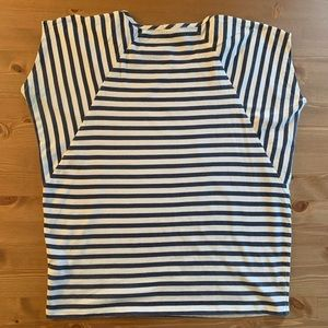 J. Crew Batwing Style Stripe T Shirt size Medium